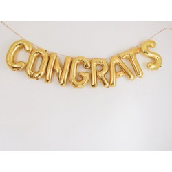 "Ballon kit message ""congrats"""