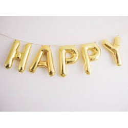 "Ballon kit message ""Happy"""