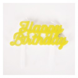 "Bougie""Happy Birthday"" jaune"