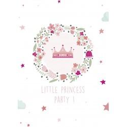 8 cartons d'invitation anniversaire princesse