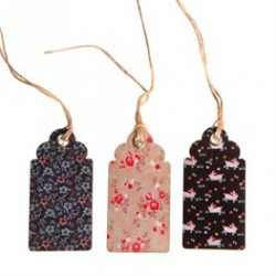 Set de 15 Gift tags -Fleurs vintages