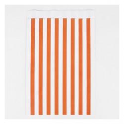 10 pochettes - rayures oranges