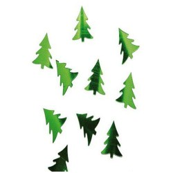 confettis métal Sapins verts