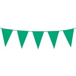 Guirlande fanions en plastique vert