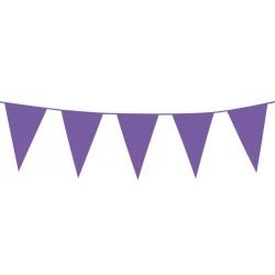 Guirlande fanions en plastique violet
