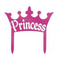 Banniere pour gateau Couronne de princesse