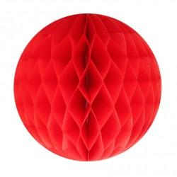 Boule alvéolée rouge