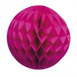 Boule alvéolée fuchsia 15 cm