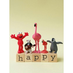 Carte Flamant rose- Happy