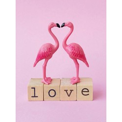 Carte Flamant rose-Love