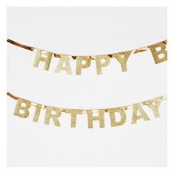 Guirlande glitter happy birthday
