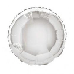 Ballon mylar Rond argenté