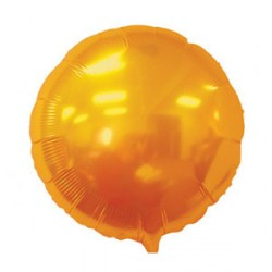 Ballon mylar aluminium-Rond orange