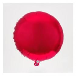 Ballon mylar rond rouge