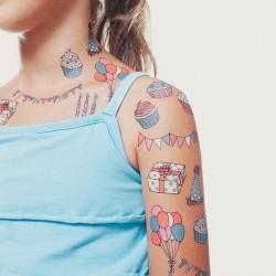 Tattoo éphémère - Lot de 8 - Party set