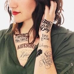 Tattoo éphémère - Lot de 8 - Inspirations