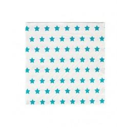 20 serviettes en papier - étoile bleue