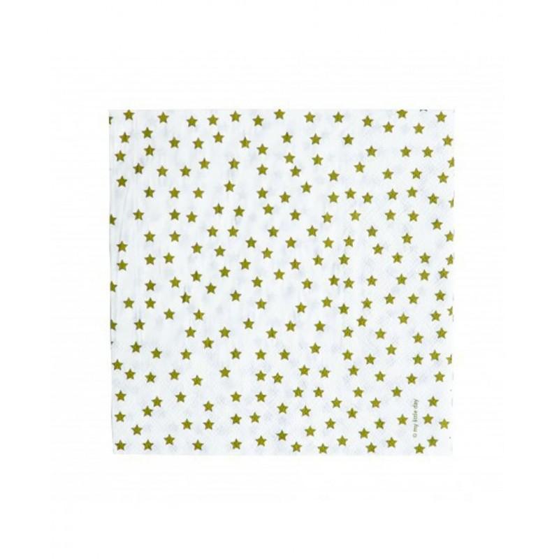 20 serviettes en papier toile dor e happy family. Black Bedroom Furniture Sets. Home Design Ideas