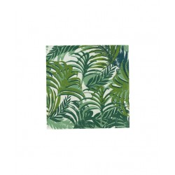 20 serviettes feuilles tropicales-palmier