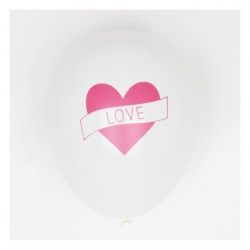 5 ballons imprimés - love