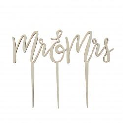 """Cake topper en bois """"Mr & Mrs"""""""