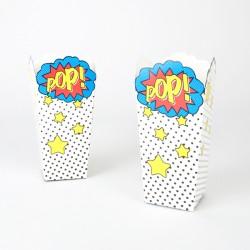 8 boîtes à pop corn super-héros