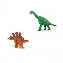Mini figurine dinosaure long cou et double écailles