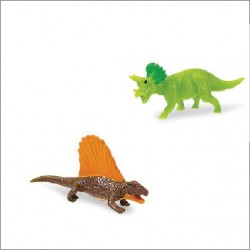 Mini figurine dinosaure corne et crête
