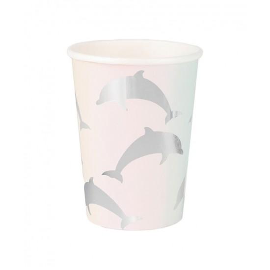 8 gobelet en carton - dauphin