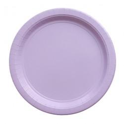 8 assiettes en carton - lavande