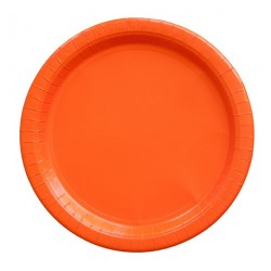 8 assiettes en carton - orange