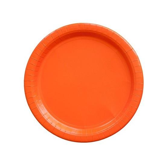 8 assiettes en carton - orange