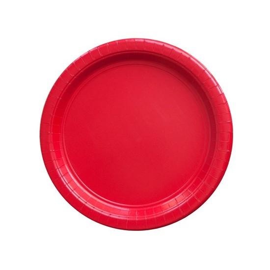8 assiettes en carton - rouge