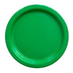 8 assiettes en carton - vert