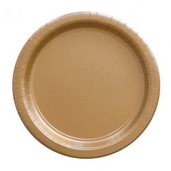 24 assiettes en carton - doré