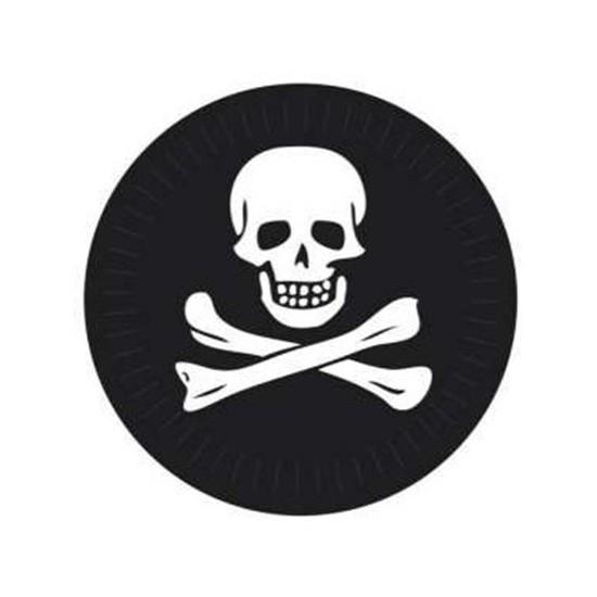 6 assiettes de pirate - 23cm