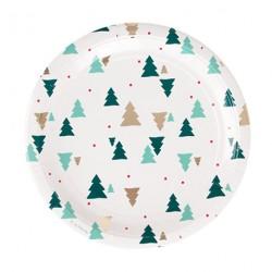 8 assiettes - sapins de Noël