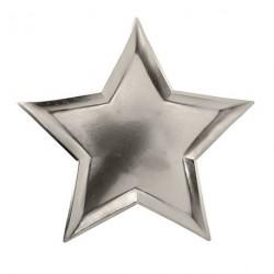 Assiette en forme d étoile argent