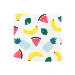 20 serviettes en papier - fruits