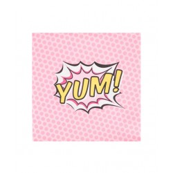 20 serviettes pop art-Yum 33x33cm
