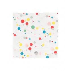 16 serviettes en papier - bulles multicolores 33x33cm