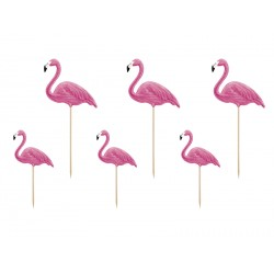 6  toppers Flamant rose