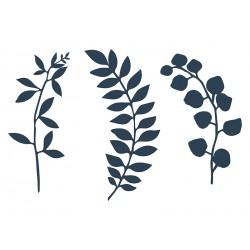 1 décoration en papier  branche bleu navy