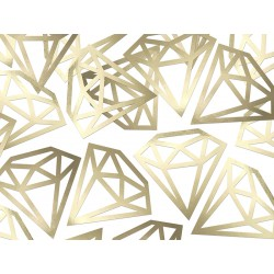12 confettis diamant doré