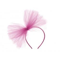 Tulle Headband - Fuchsia