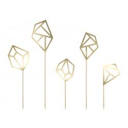 5 toppers - Diamant doré