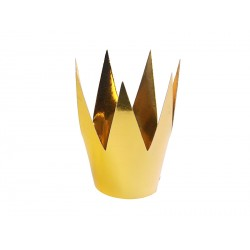 3 couronnes or métallisé