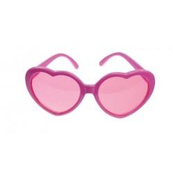 Lunette coeur rose verre rose
