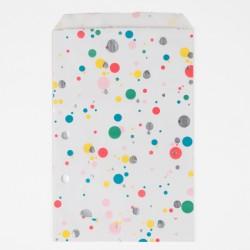 10 pochettes- bulles multicolores