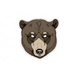 1 masque ours en carton
